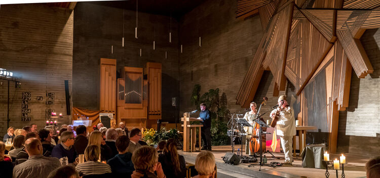 """Luther minimal"" in der Thomaskirche - mit Paul, Dorothea und Thomas Frank (von links).Foto: Carsten Riedl"