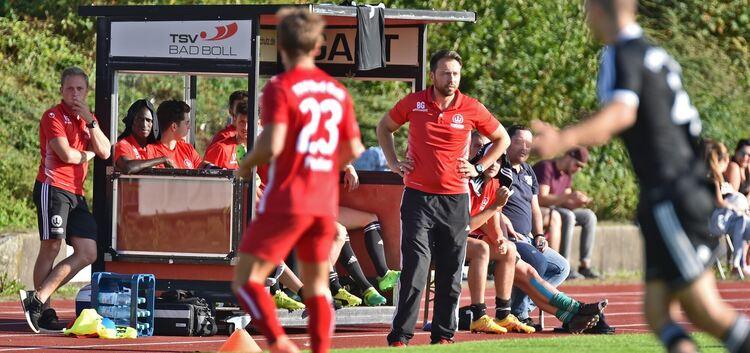 Benjamin Geiger peilt in den nächsten beiden Spielen gegen die Kellerkonkurrenten aus Bargau und Neu-Ulm mindestens vier Punkte an. Foto: Markus Brändli