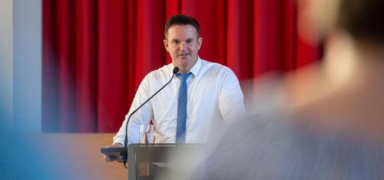 Strebt seine zweite Amtszeit an: Sven HaumacherFoto: Carsten Riedl