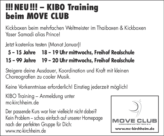 KIBO Training