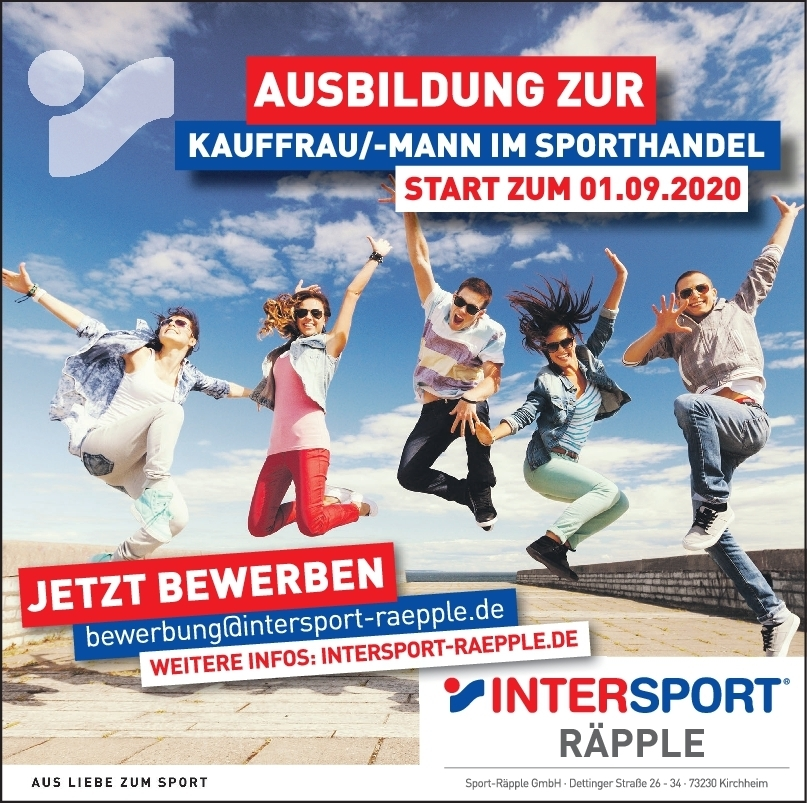 Ausbildung Start September 2020