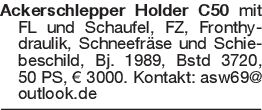 Ackerschlepper Holder C50