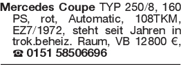 Mercedes Coupe TYP 250/8,