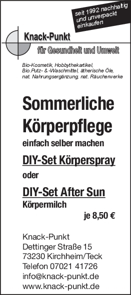 Set Körperspray & After-Sun