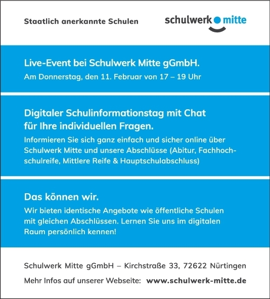 Digitaler Schulinformationstag